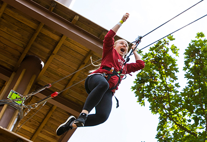 Treetop Challenge Experience - Child 10-15 age bands.