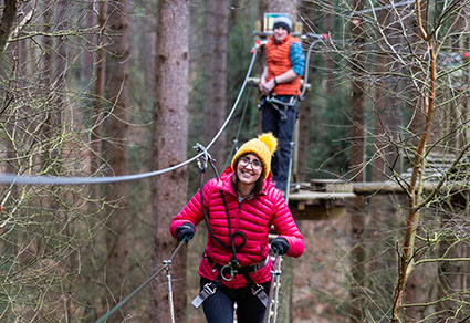 Treetop Adventure+ Experience for two adults.