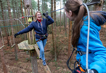 Treetop Adventure+ Experience for one adult and one child.